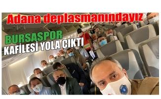 Final için Bursaspor yola çıktı