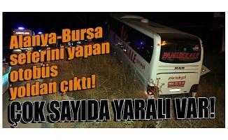 Alanya-Bursa seferini yapan otobüs yoldan çıktı: 30 yaralı