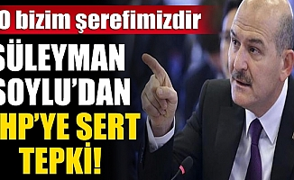 Bakan Soylu CHP'ye sert tepki gösterdi: O bizim şerefimizdir