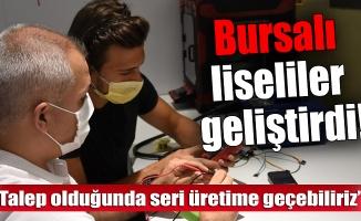 """Bursa'da """"ateşi ölçülenin de vücut ısısını görebildiği"""" cihaz geliştirildi"""