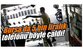 Bursa'da cep telefonu hırsızı kameralara yakalandı!