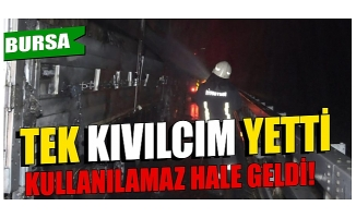 Bursa'da kağıt yüklü TIR'ın dorsesi yandı