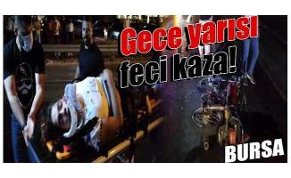 Bursa'da kamyonete arkadan çarpan motosikletli ağır yaralandı