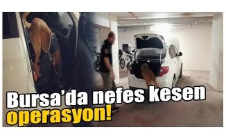 Bursa'da nefes kesen uyuşturucu operasyonu: 3 gözaltı
