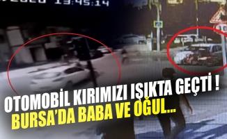 Bursa'da otomobil ile bisikletin çarpışma anı kamerada!