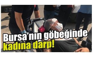 Bursa'da sokakta darbedilen kadın banka şubesine sığındı