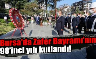 Bursa'da Zafer Bayramı'nın 98'inci yılı kutlandı