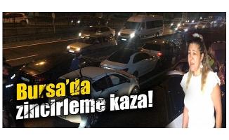 Bursa'da zincirleme kaza! Kadın sürücü gazeteciye saldırdı...