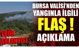 Bursa Valisi Canbolat'tan yangınla ilgli flaş açıklama