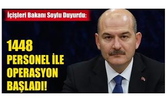 """İçişleri Bakanı Süleyman Soylu, """"Bugün yaklaşık bin 448 personelimiz Amanoslarda bu sabah itibariyle Yıldırım-5 operasyonuna başladı"""" dedi."""