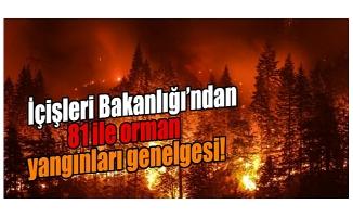 İçişleri Bakanlığı'ndan orman yangınlarıyla ilgili genelge!