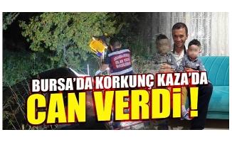 Bursa'da tır ile otomobil kafa kafaya çarpıştı: 1 ölü