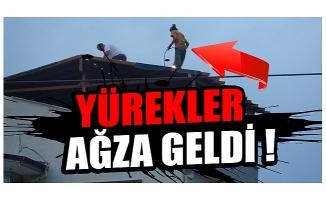 Bursa'da 20 metrede maskeyi çıkarmadılar ama iş güvenliğini hiçe saydılar