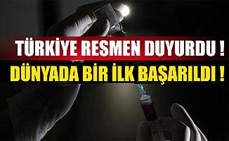 Türkiye resmen duyurdu! Dünyada bir ilk başarıldı