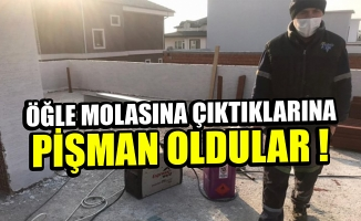 Bursa'da işçiler öğle molasına çıkınca hırsızlar inşaatı soydu