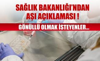 Sağlık Bakanlığı'ndan aşı açıklaması