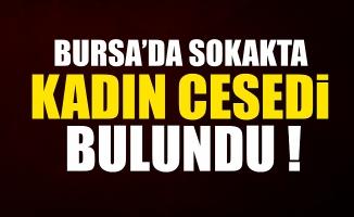 Bursa Nilüfer'de sokakta kadın cesedi bulundu