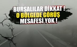 Bursa'nın dağ ilçelerinde sis altında