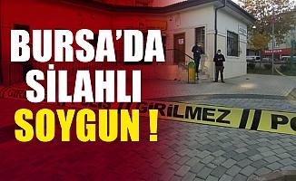Bursa Osmangazi'de maskeli ve silahlı şahıslar PTT'yi soydu