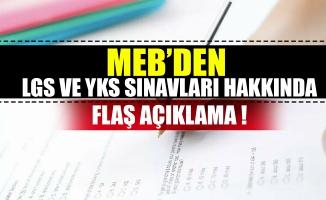 MEB'den LGS ve YKS sınavları hakkında flaş açıklama: Müfredatta değişiklik olacak mı?