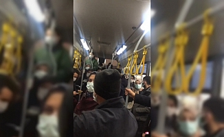 Bursa halk otobüsünde tartışma!