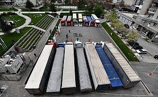 Bursa Osmangazi'den Suriye'ye 14 Yardım TIR'ı