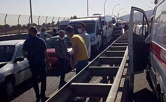 9 araçlı zincirleme kaza: 21 yaralı