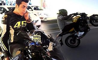 FSM'deki kazada ölen gencin motosikleti tek teker kullandığı görüntüler ortaya çıktı