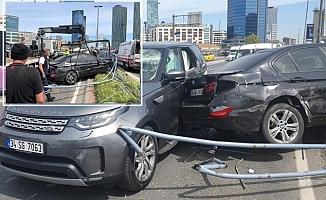 Makas iddiası: 4 yaralı 11 araç hasar gördü