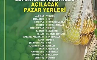Osmangazi'de Tam Kapanmada Kurulacak Pazar Yerleri