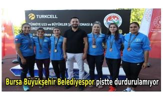 Bursa Büyükşehir Belediyespor pistte durdurulamıyor