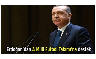 Erdoğan'dan A Milli Futbol Takımı'na destek