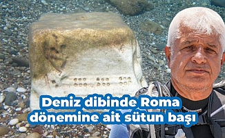 Deniz dibinde Roma dönemine ait sütun başı
