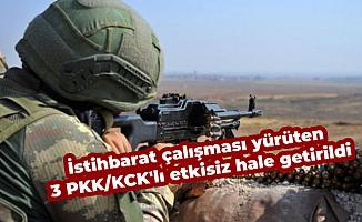 İstihbarat çalışması yürüten 3 PKK/KCK'lı etkisiz hale getirildi
