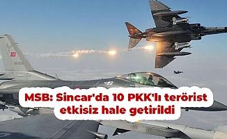 MSB: Sincar'da 10 PKK'lı terörist etkisiz hale getirildi