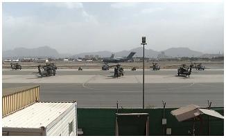 Savunma Bakanlığı, Kabil Havalimanı'ndan görüntüler paylaştı