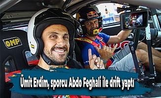 Ümit Erdim, sporcu Abdo Feghali ile drift yaptı