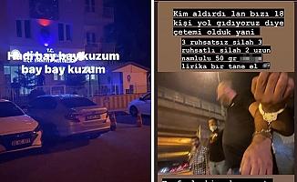 Uyuşturucudan gözaltına alındı, sosyal medyadan polisi tehdit etti