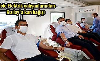 Dicle Elektrik çalışanlarından Kızılay'a kan bağışı