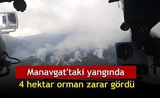 Manavgat'taki yangında 4 hektar orman zarar gördü