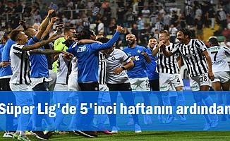 Süper Lig'de 5'inci haftanın ardından