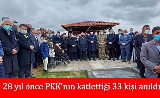 28 yıl önce PKK'nın katlettiği 33 kişi anıldı
