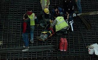 Arnavutköy'de metro inşaatında işçileri taşıyan sepetin halatı koptu: 3 yaralı (2)