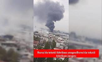 Bursa'da tekstil fabrikası yangını (1)