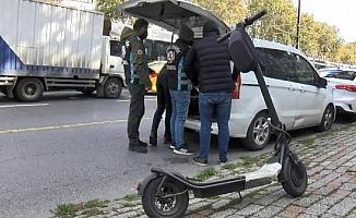 (Ek bilgiyle) Kurallara uymayan elektrikli scooter sürücülerine ceza yağdı