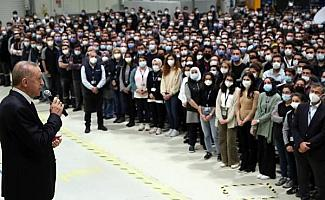 Fotoğraflar // Cumhurbaşkanı Erdoğan BAYKAR fabrikasında