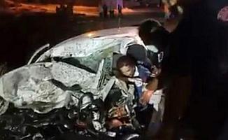 Gaziantep'te otomobil ile tanker çarpıştı: 1 ölü, 2 yaralı