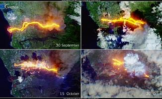 La Palma Adası'ndaki Cumbre Vieja Yanardağı'nın uzaydan fotoğrafları paylaşıldı