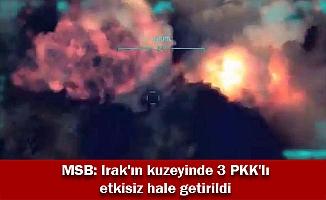 MSB: Irak'ın kuzeyinde 3 PKK'lı etkisiz hale getirildi