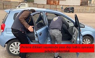 Polisin dikkati sayesinde yasa dışı bahis oynatan şebeke çökertildi